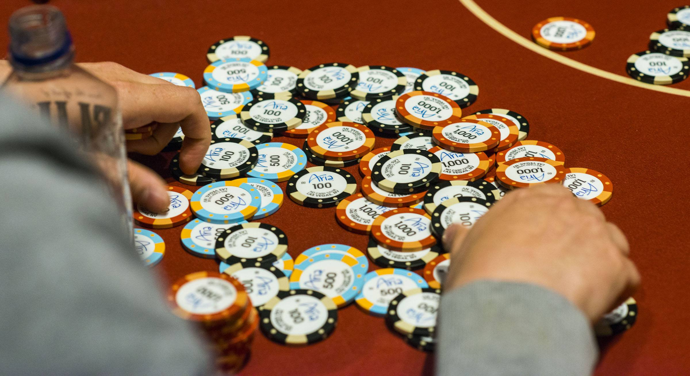 Game chips and tokens used in the casino game